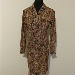 Vintage Silk Leopard Robbie Bee Dress